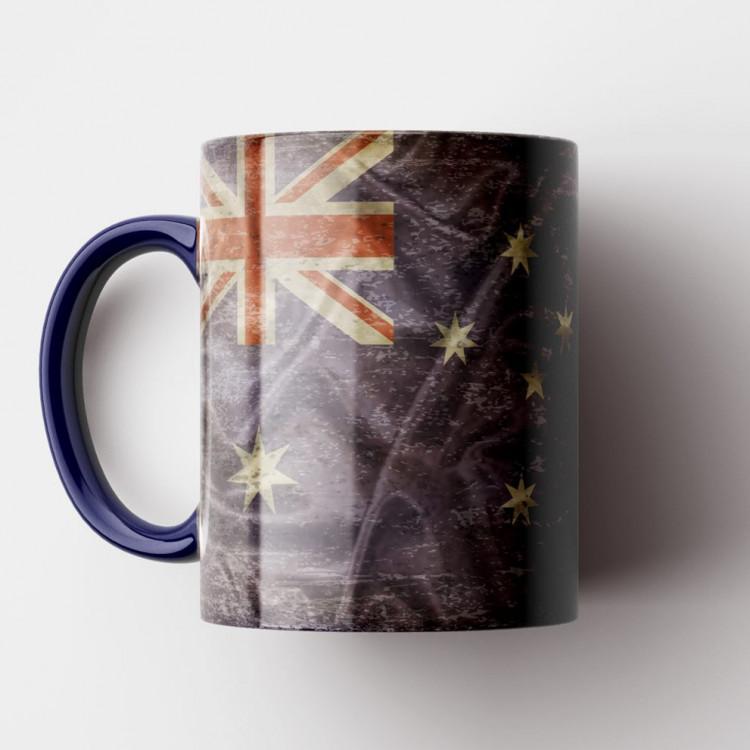 Caneca Bandeira da Austrália Vintage - Porcelana 325ml