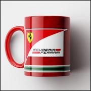 Caneca Fórmula 1 - Scuderia Ferrari - Porcelana 325ml