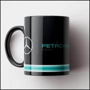 Caneca Fórmula 1 - Mercedes Petronas F1 Team - Porcelana 325ml