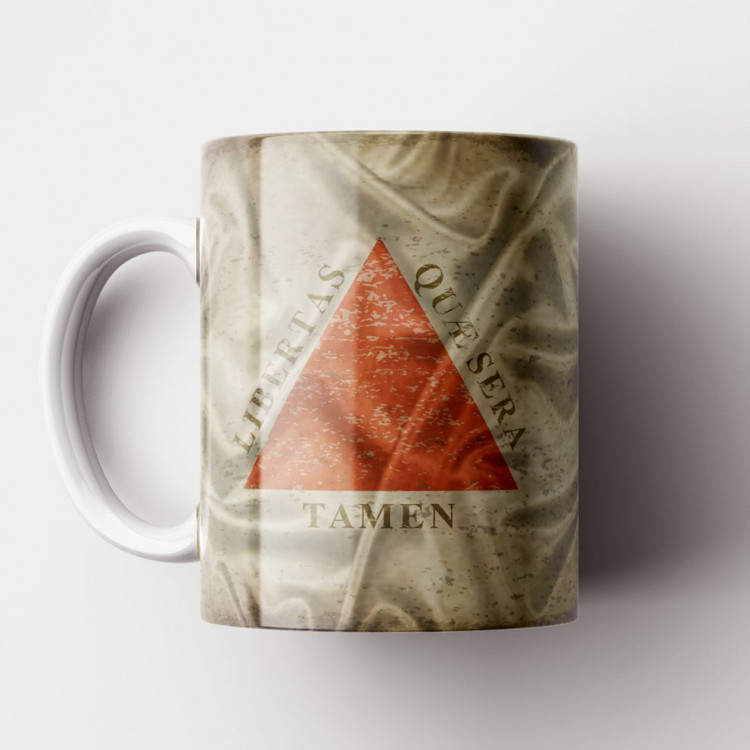 Caneca Bandeira de Minas Gerais Vintage - Porcelana 325ml