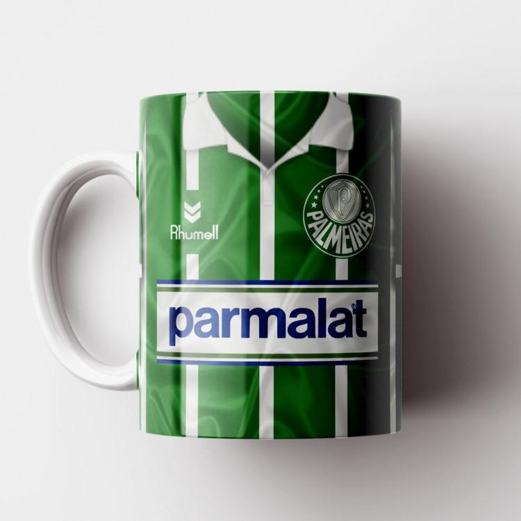 Caneca Palmeiras - Camisa Listrada - Campeão Paulista 1993 - Porcelana 325ml