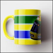 Caneca Capacete Ayrton Senna - Porcelana 325ml