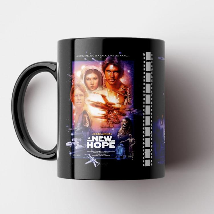Caneca Star Wars Episódios IV, V e VI (Coleção Clássicos do Cinema) - Porcelana 325 ml