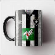 Caneca Botafogo - Camisa Listrada - Campeão Brasileiro 1995 - Porcelana 325ml