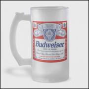 Caneca de Chopp - Budweiser - Vidro Jateado 475ml
