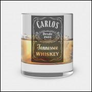 Copo de Whisky Personalizado - Jack Daniels - Vidro 300ml
