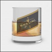 Copo de Whisky - Johnny Walker Black Label - Vidro 300ml