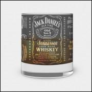 Copo de Whisky - Jack Daniels - Modelo 2- Vidro 300ml
