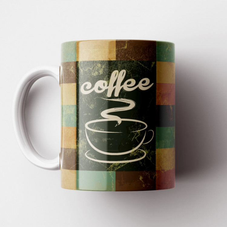 Caneca Cantinho do Café Retrô - Tile Coffee - Porcelana 325ml