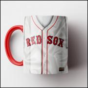 Caneca MLB Boston Red Sox - Camisa Home - Porcelana 325ml