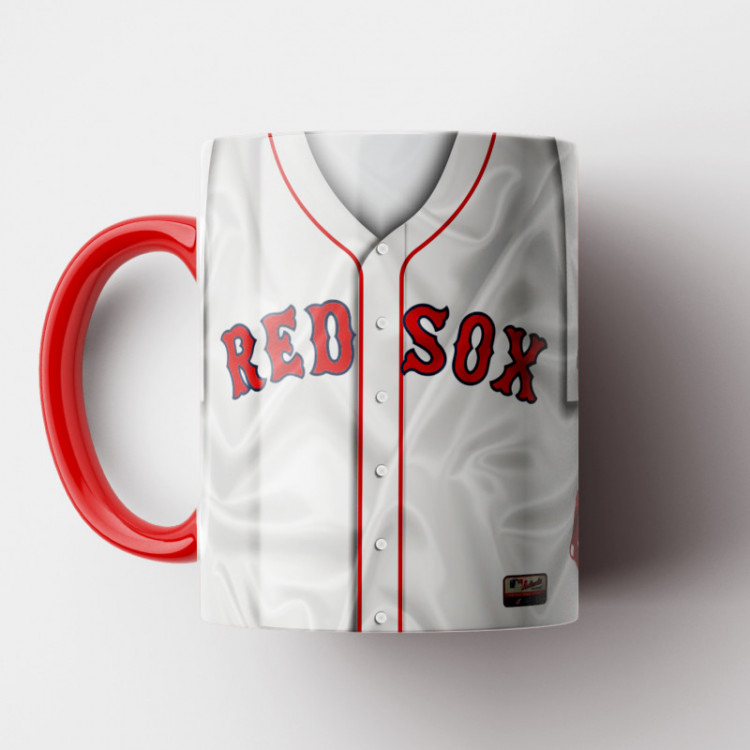 Caneca MLB Boston Red Sox - Camisa Home - Porcelana 325ml