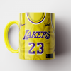Caneca NBA Los Angeles Lakers - Camisa Amarela 2018/19 - Porcelana 325ml