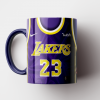 Caneca NBA Los Angeles Lakers - Camisa Azul 2018/19 - Porcelana 325ml