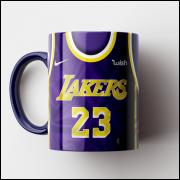 Caneca NBA Los Angeles Lakers - Camisa Azul 2018/19 - Porcelana 325ml