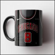 Caneca NBA Chicago Bulls - Camisa Preta 2018/19 - Porcelana 325ml