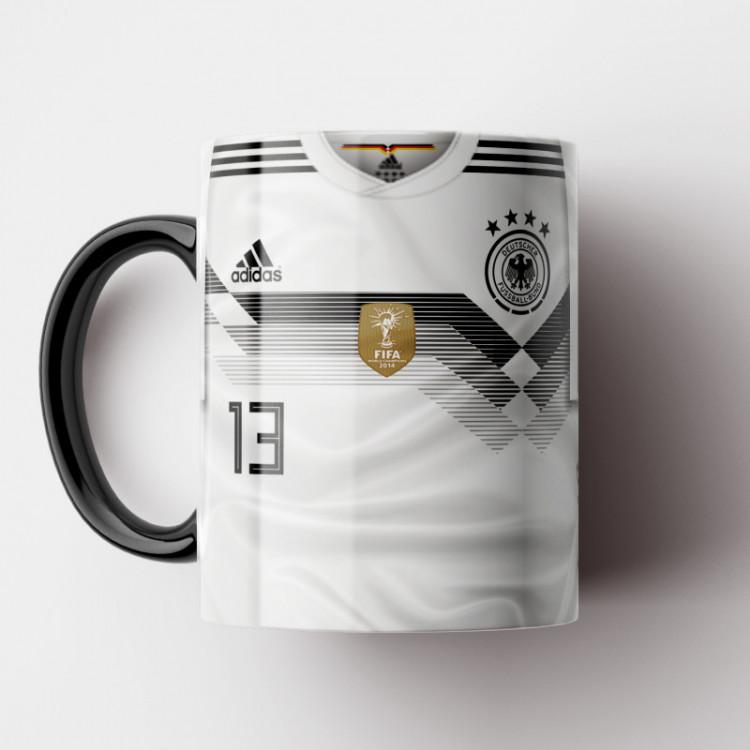 Caneca Alemanha - Camisa Copa do Mundo 2018 - Porcelana 325ml