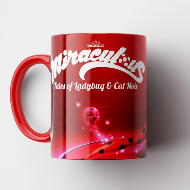Caneca Ladybug - Miraculous - Porcelana 325ml