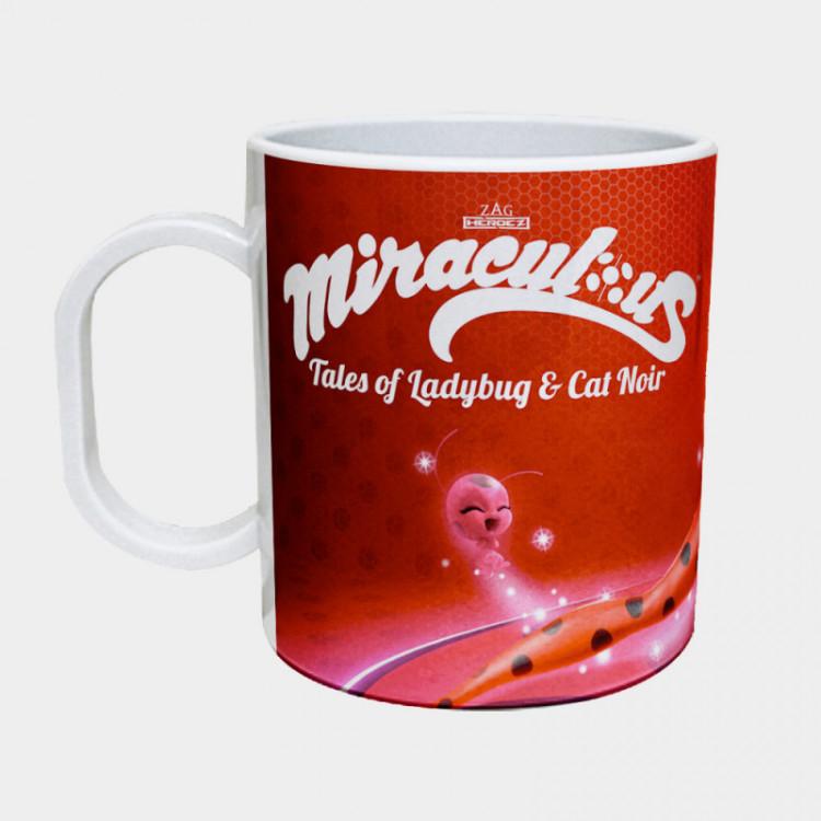 Caneca Ladybug - Miraculous - Plástico 325ml