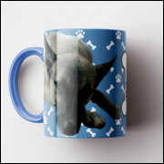 Caneca My Dog - Azul Clara (Personalizada com foto e nome do seu Pet) - Porcelana 325ml
