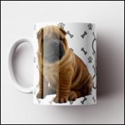 Caneca My Dog - Branca (Personalizada com foto e nome do seu Pet) - Porcelana 325ml