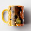 Caneca My Dog - Mostarda (Personalizada com foto e nome do seu Pet) - Porcelana 325ml