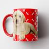 Caneca My Dog - Vermelha (Personalizada com foto e nome do seu Pet) - Porcelana 325ml