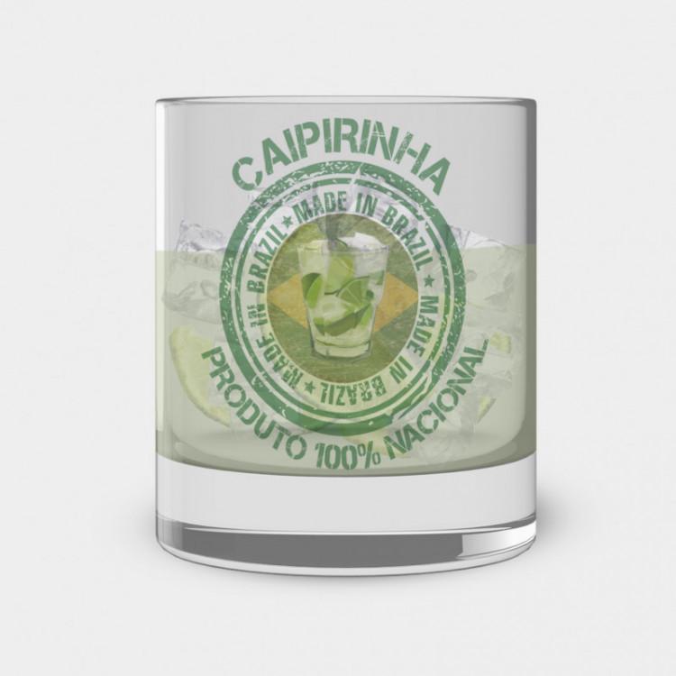 Copo de Caipirinha - Caipirinha Produto 100% Nacional - Vidro 300ml