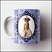 Caneca Nossa Senhora de Fátima - Porcelana 325ml