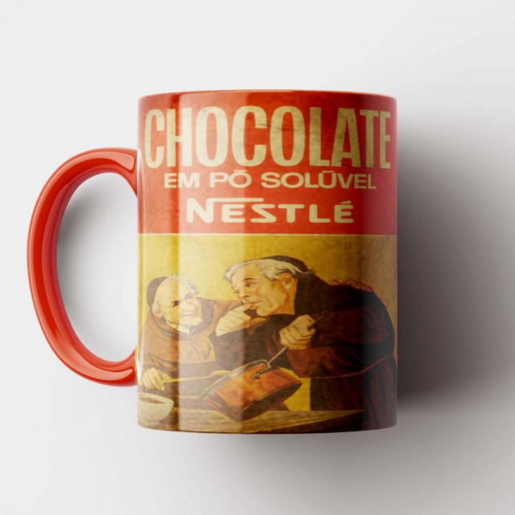 Caneca Chocolate Nestlé - Coleção Marcas Inesquecíveis - Porcelana 325ml
