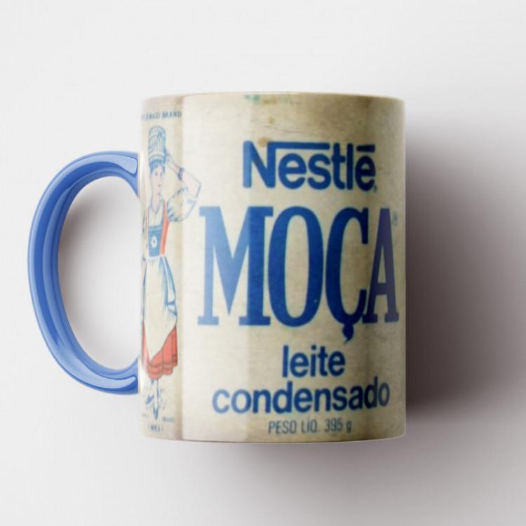 Caneca Leite Moça Vintage - Coleção Marcas Inesquecíveis - Porcelana 325ml