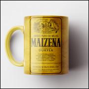 Caneca Maizena Vintage (Amarela) - Coleção Marcas Inesquecíveis - Porcelana 325ml