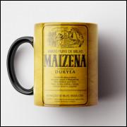 Caneca Maizena Vintage (Preta) - Coleção Marcas Inesquecíveis - Porcelana 325ml