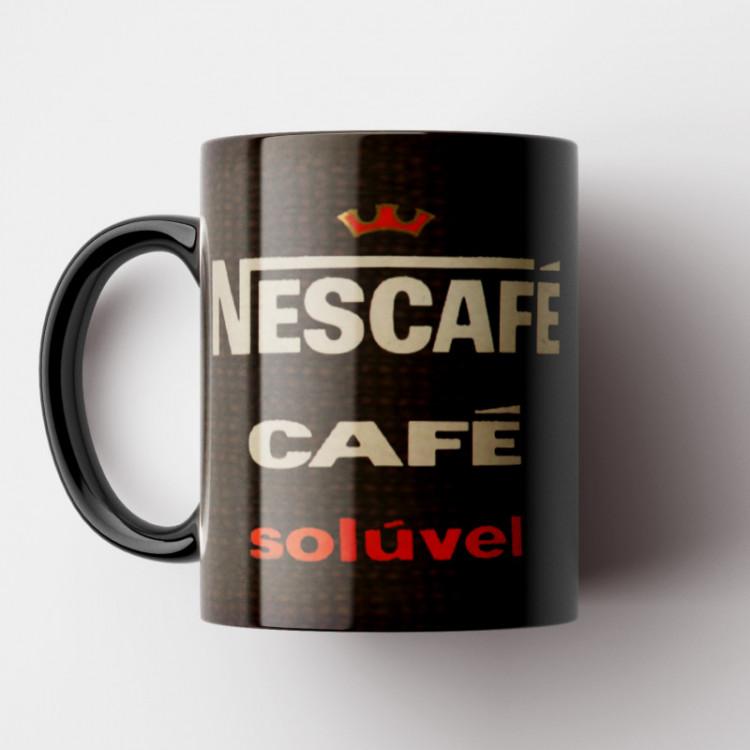 Caneca Nescafé Vintage - Coleção Marcas Inesquecíveis - Porcelana 325ml