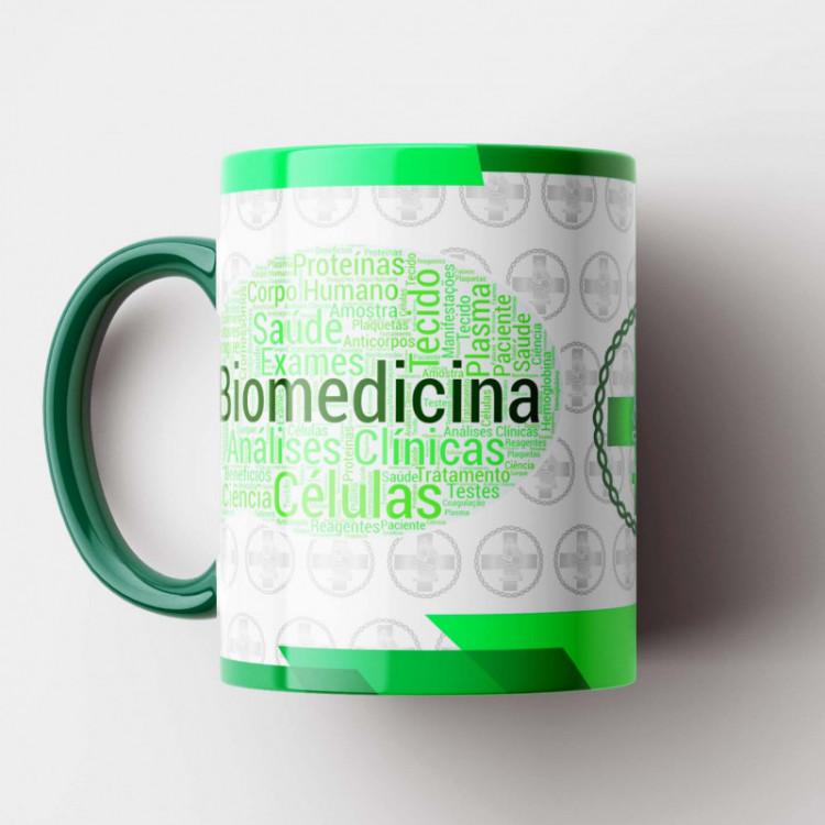 Caneca Biomedicina - Coleção Profissões - Porcelana 325ml