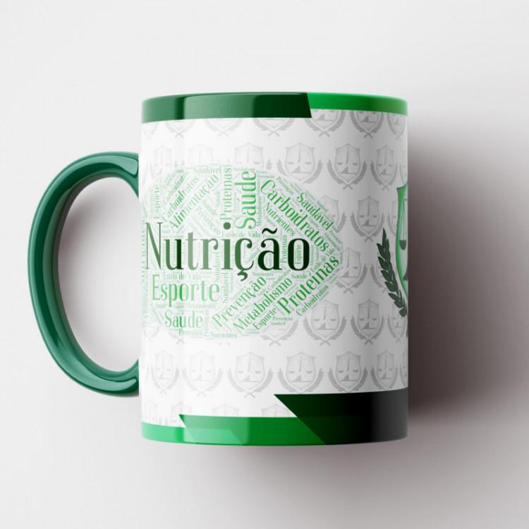 Caneca Nutrição - Coleção Profissões - Porcelana 325ml