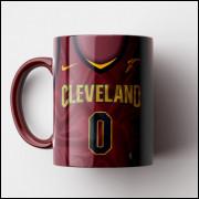 Caneca NBA Cleveland Cavaliers - Camisa Vinho 2018/19 - Porcelana 325ml