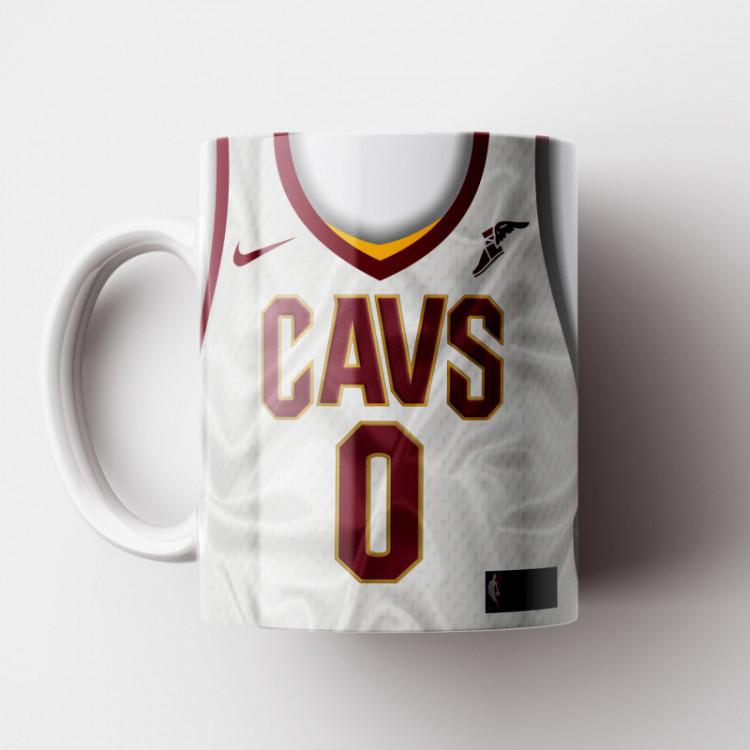Caneca NBA Cleveland Cavaliers - Camisa Branca 2018/19 - Porcelana 325ml