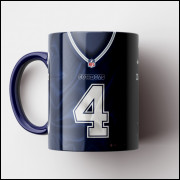 Caneca NFL Dallas Cowboys - Camisa 2018/19 - Porcelana 325ml