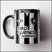 Caneca Botafogo - Camisa Listrada - Campeão Carioca 2010 - Porcelana 325ml