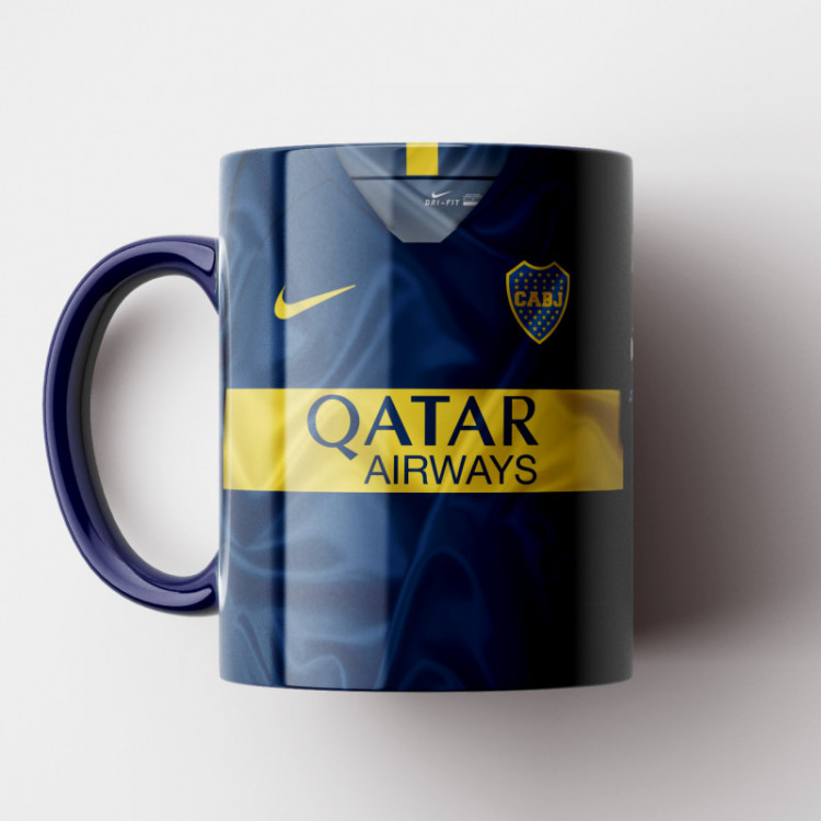 Caneca Boca Juniors - Camisa 2018/19 - Porcelana 325ml