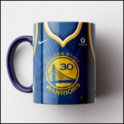 Caneca NBA Golden State Warriors - Camisa Azul 2018/19 - Porcelana 325ml
