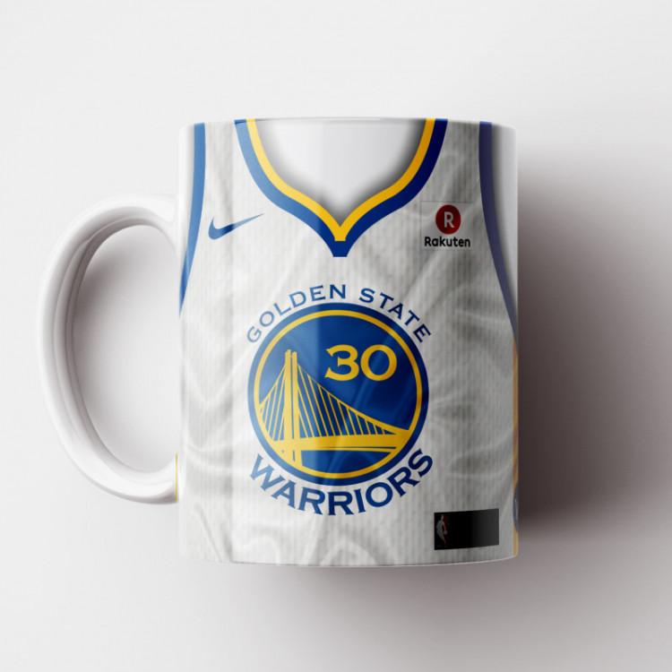 Caneca NBA Golden State Warriors - Camisa Branca 2018/19 - Porcelana 325ml