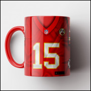 Caneca NFL Kansas City Chiefs - Camisa 2019 - Porcelana 325ml