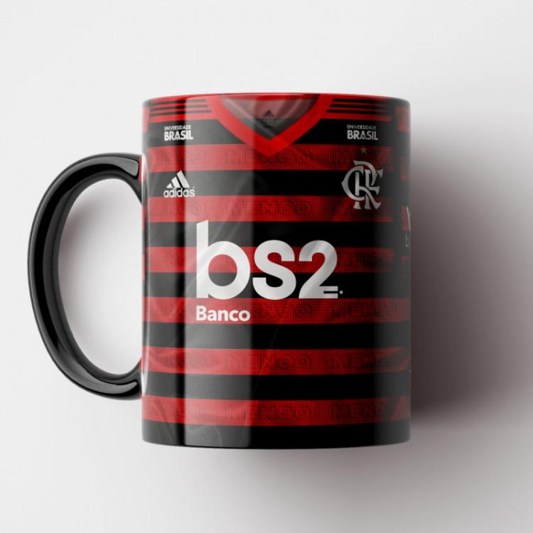 Caneca Flamengo - Camisa Rubro-Negra 2019 - Porcelana 325ml