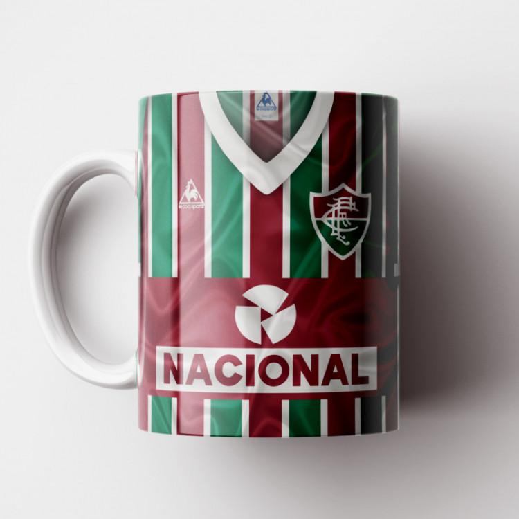 Caneca Fluminense - Camisa Listrada - Campeão Brasileiro 1984 - Porcelana 325ml