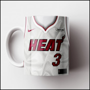 Caneca NBA Miami Heat - Camisa Branca 2018/19 - Porcelana 325ml