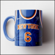 Caneca NBA New York Knicks - Camisa Azul 2018/19 - Porcelana 325ml