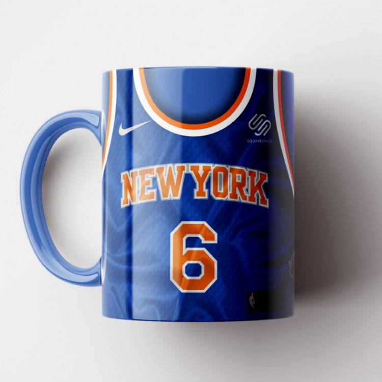 Caneca NBA New York Knicks - Camisa Azul 2018/19 - Porcelana 325ml