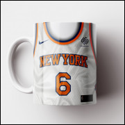 Caneca NBA New York Knicks - Camisa Branca 2018/19 - Porcelana 325ml