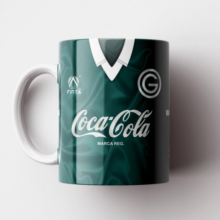 Caneca Goiás EC - Camisa 1990 - Finta / Coca-Cola - Porcelana 325ml